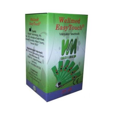 Tesztcsík Easy Touch készülékhez, vércukorszint méréshez, 25 db-os